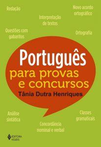 """Capa do livro """"Português para provas e concursos"""""""