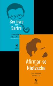 """Capa dos livros """"Ser livre com Sartre"""" e """"Afirma-se com Nietzsche"""""""