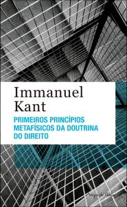 """Capa do livro """"Primeiros princípios metafísicos da doutrina do direito"""""""