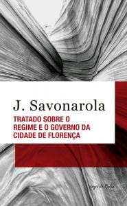 """Capa do livro """"Tratado sobre o regime e o governo da cidade de Florença"""""""