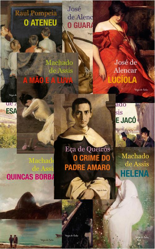 Montagem com algumas capas dos livros da Coleção Vozes de Bolso - Literatura Brasileira